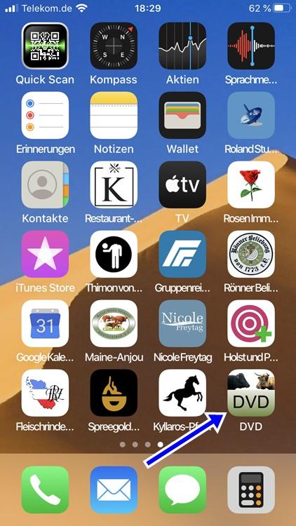 Icon DVD im Smartphone